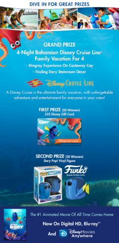 Disney Cruise Sweepstakes 2017 - enter the disney movie rewards sweepstakes by january 31 for a chance to win a disney