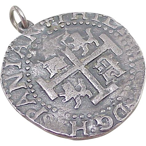 Rare James Avery Pieces of Eight Pendant / Medallion, Sterling Silver, from acharmedlife on Ruby