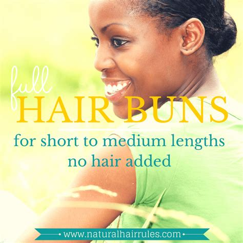 3 Buns For Any Length Without Added Hair | 3 buns for any length without added hair