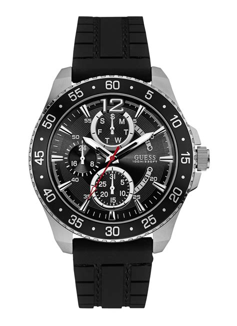 Buy Guess Round Analog Black Dial Mens Watch - W0798G1