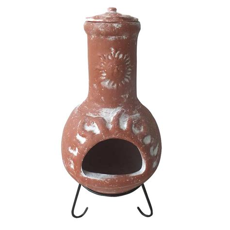 Clay Chiminea Sale clay chiminea 86cm on sale fast delivery greenfingers