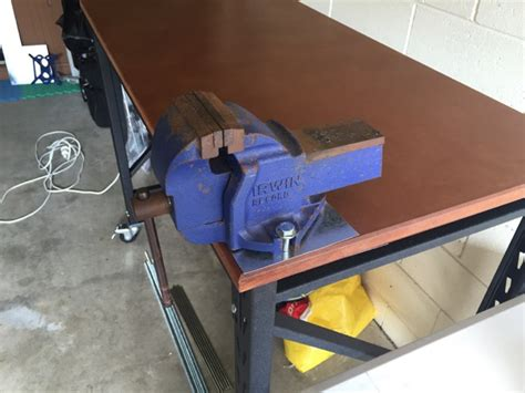 work bench with vice brilliant mounting a vice to rack it work bench david
