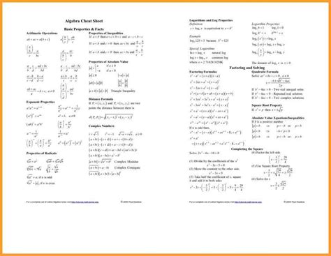 Trig Reference Table by Trig Reference Table Letter Format Mail