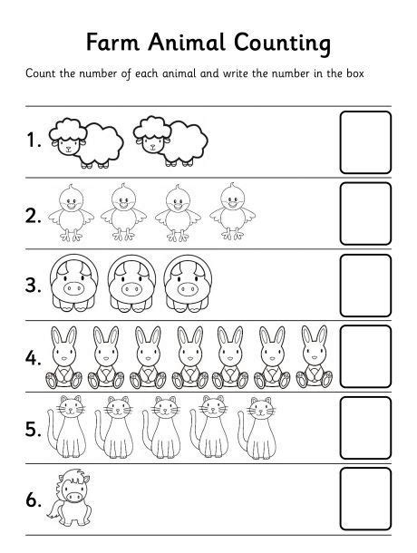 free printable animal numbers farm animal counting worksheet let children st