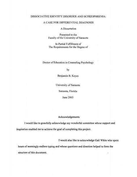 acknowledgement exle dissertation acknowledgement dissertation parents