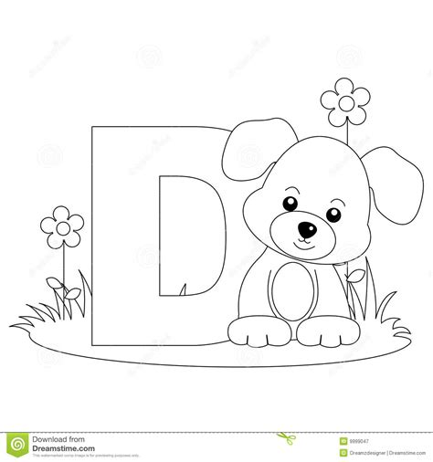 animal alphabet coloring pages a z animal alphabet d coloring page royalty free stock