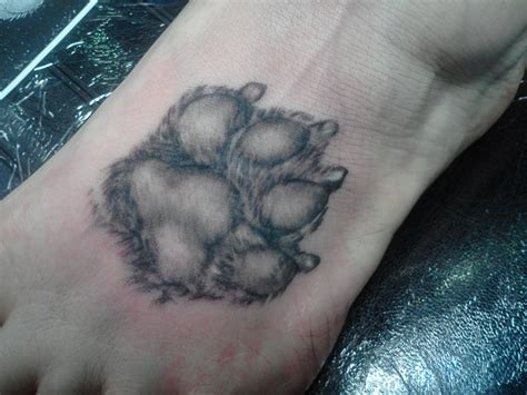 dog paw print tattoo paw print tattoos random