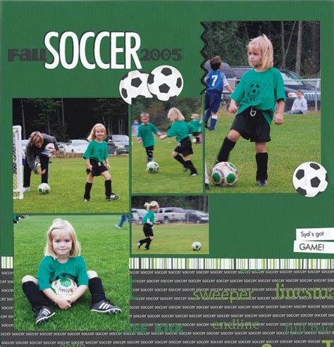 scrapbook layout soccer 17 best images about soccer scrapbooking on pinterest