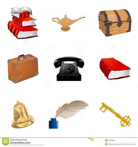 imagenes reales de objetos conjunto de objetos de la vendimia ilustraci 243 n del vector