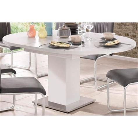 Table Ronde A Rallonge 391 by Tables Salle 224 Manger Et Bars Blanc 3suisses