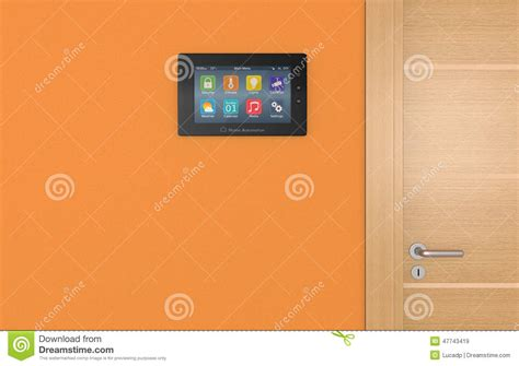 home automation panel stock illustration image 47743419