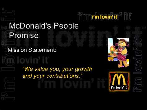 what is the mission statement of mcdonalds youtube