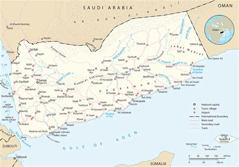 map of yemen yemen map sanaa asia