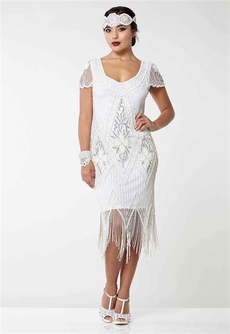 6 Of The Best Black White Inspired Dresses by Gatsbylady Vintage Inspired Fringe Flapper Dress