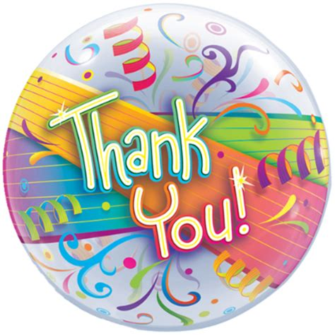 Thank You Letter Balloons 22 colourful thank you streamers balloon 8086 p png