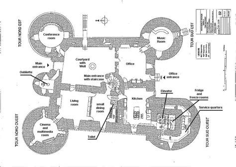 castle blueprint montbrun castle chateau maps and plans