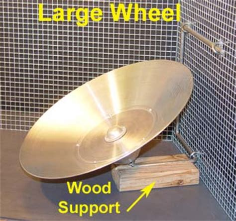 flying saucer wheel assembly and installation