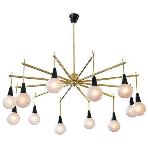 mid century modern chandelier mid century modern brass and murano glass chandelier for sale at 1stdibs
