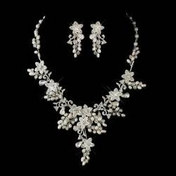 wedding jewelry glamorous pearl rhinestone floral bridal jewelry sets bridal wedding accessories