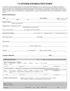 customer info form fill online printable fillable