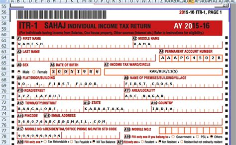 excel format of form 16 for ay 2015 16 income tax calculator ay 15 16 in excel format in e tax