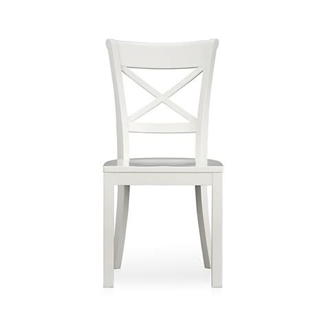 vintner white wood dining chair in dining chairs crate