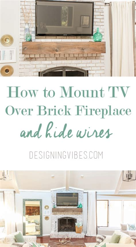 mount tv brick fireplace how to mount a tv a brick fireplace and hide the