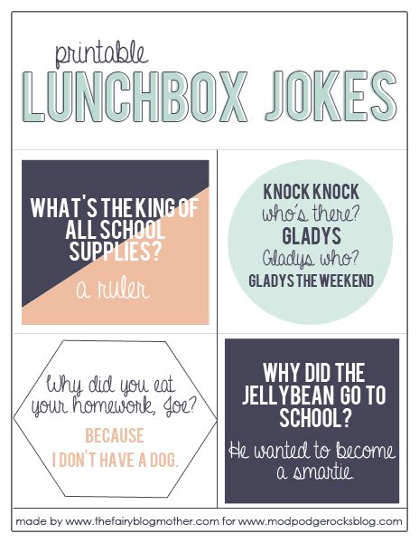 printable funny jokes 25 back to school lunchbox ideas printables