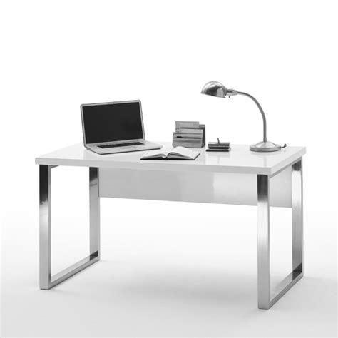 High Work Desk by Sydney Office Desk In High Gloss White Top And Chrome