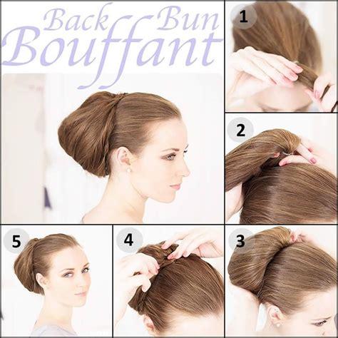 hairstyles buns tutorials back bun bouffant formal hairstyle tutorial hair style