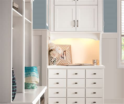 white entryway storage cabinets aristokraft cabinetry