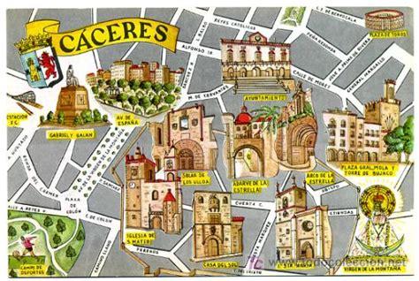coria caceres mapa postal caceres ilustrada mapa o plano co comprar
