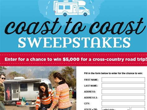 How To Sweepstakes For A Living - country living go rving sweepstakes sweepstakes fanatics