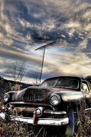 rusty car iphone background rusty car ipod background