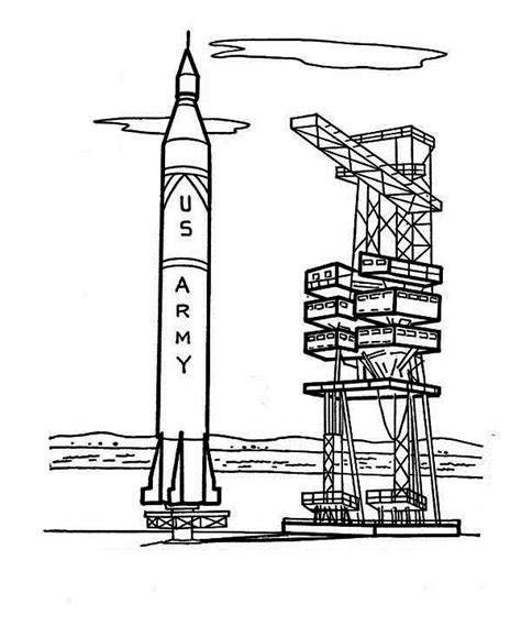 rocket launch coloring page roket luncher free coloring pages