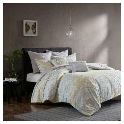 target yellow comforter yellow leyla 100 cotton printed 7pcs comforter set target
