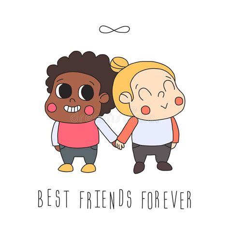 clipart amicizia illustrazione di amicizia della ragazza cartolina d