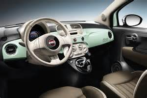 Inside Of Fiat 500 Fiat 500 Gets New Engine Trim And Range Topping Cult