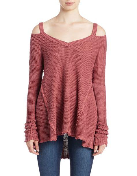 Cold Shoulder Sweater free moonshine cold shoulder sweater in lyst