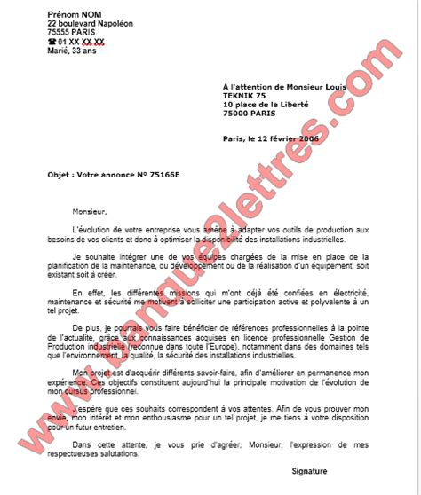 Lettre De Motivation Attijari Wafa Banque Lettre De Motivation Demande D Emploi Technicien De Maintenance Ofppt Modules