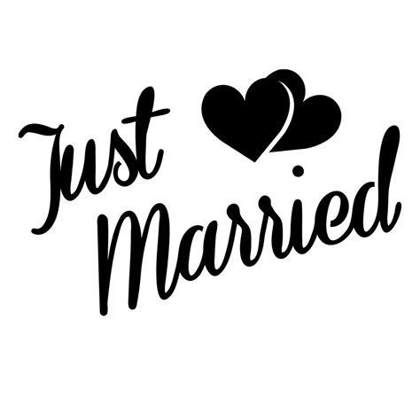 Wedding Just Married by Just Married Quarter Stencil For Glitter Tattoos For