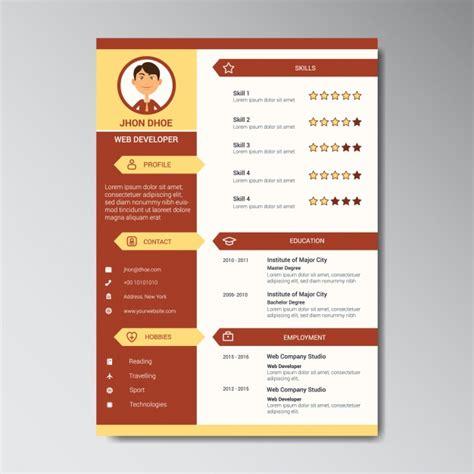 Curriculum Template Design Vector Free Download Curriculum Design Template