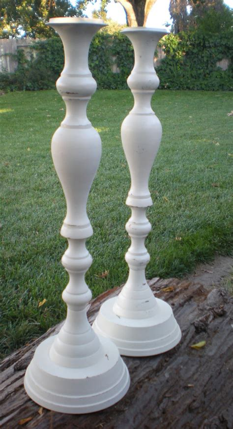 White Candlestick Holders Candle Holders Candlesticks White Ornate Wedding Home