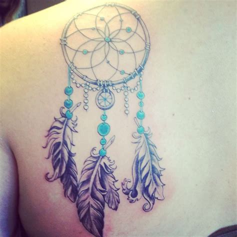 dreamcatcher shoulder blade tattoo tattoos pinterest