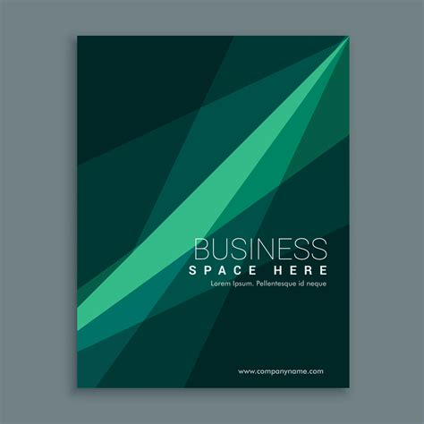 Creative Green Abstract Brochure Flyer Cover Template Design In Download Free Vector Art Cover Template Design