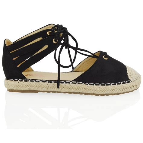 Sandal Wedges Flat Heel Casual Termurah Sendal Import Mylo Ms1122 womens lace up flat espadrilles sandals ankle casual shoes size ebay