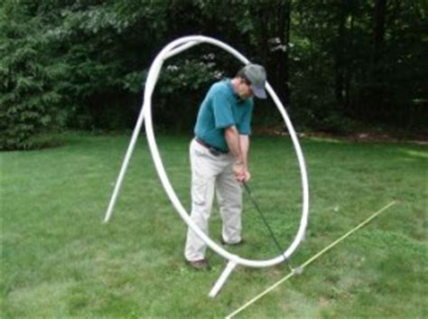 make a golf swing plane trainer club face square to the swing plane