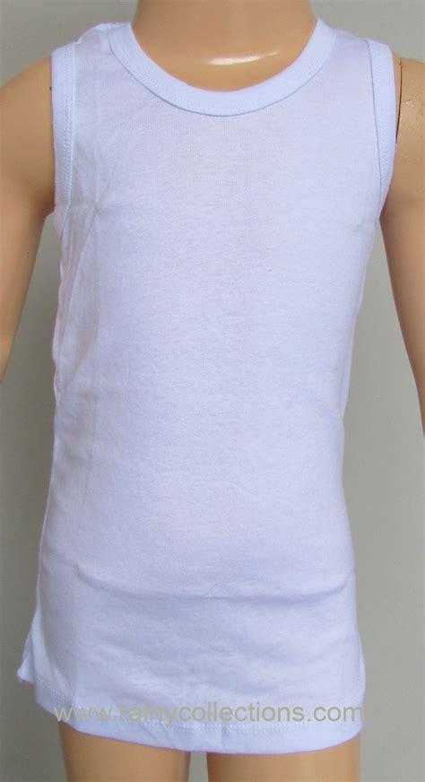 Kaus Berkerah Anak Co 4 rainy collections kaus dalam anak bahan katun