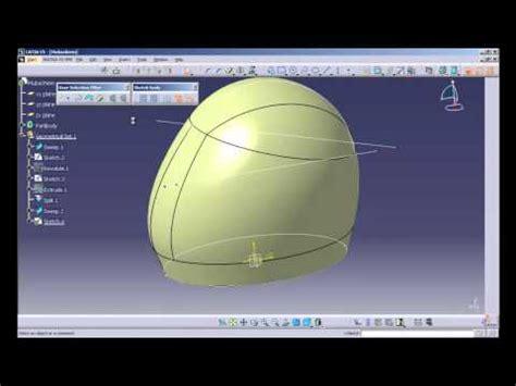 helmet design catia catia v5 surface tutorial for a watering can doovi