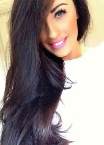 Perfect dark brown black hair with a hint of violet for the fall and